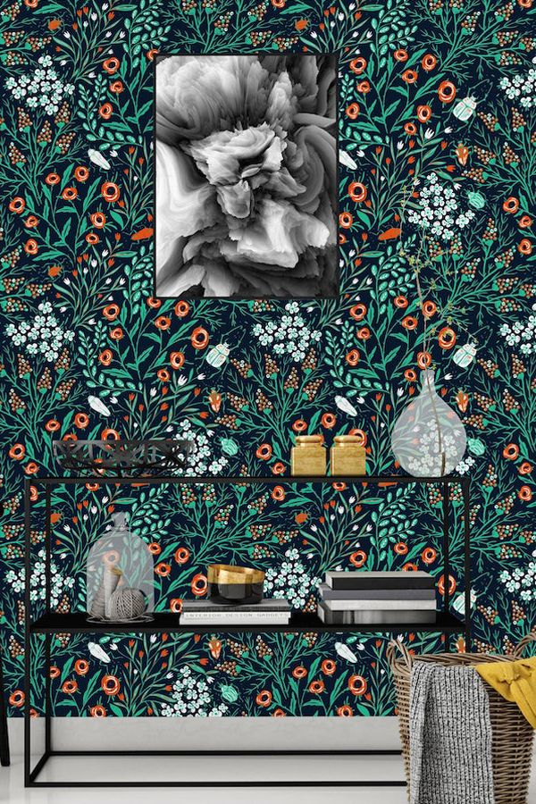 10 Peel And Stick Wallpapers That Will Effortlessly Add Illustrations To Your Walls Peel And Stick Wallpaper Removable Wallpaper Nursery Mural