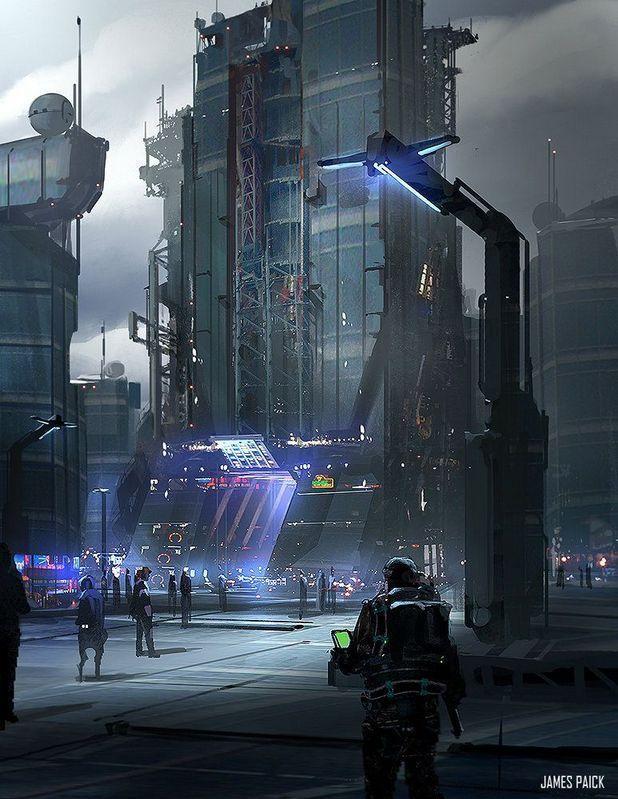 24+ Amazing Cyberpunk Art Futuristic Architecture Ideas