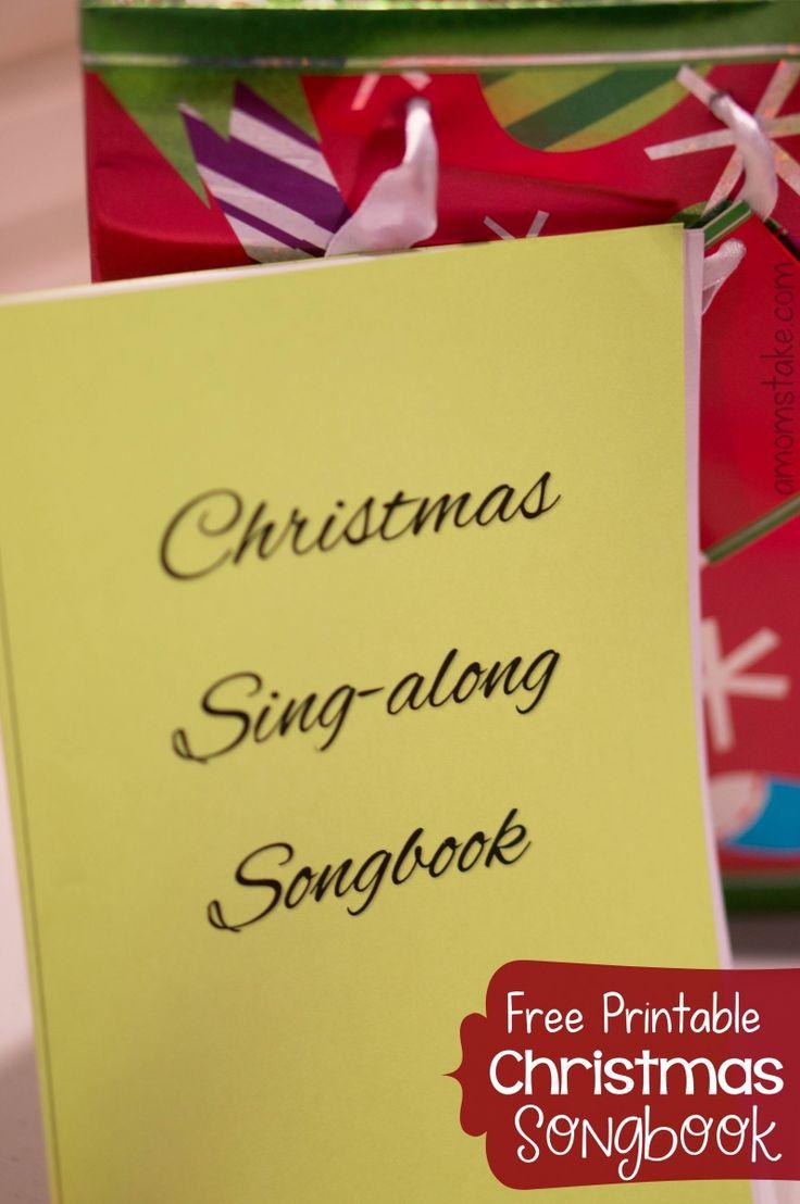Names Of Some Famous Christmas Carols - Christmas songbook free pdf printable