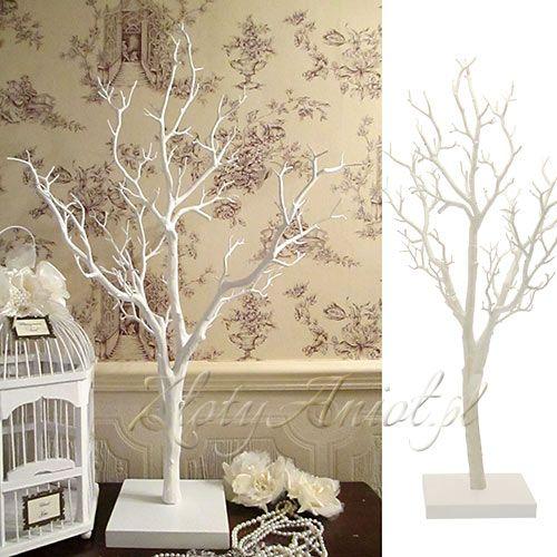 DRZEWO dekoracyjne białe ok.75cm