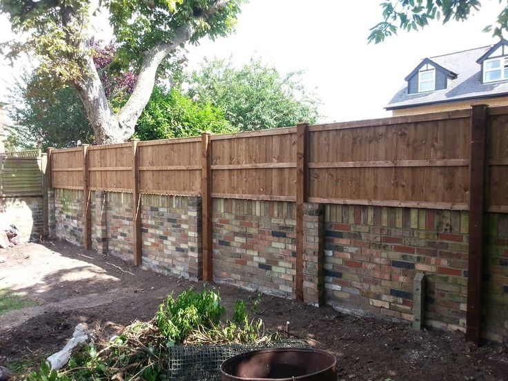 Image Result For Lap Fence Panel Above Stone Wall Garden