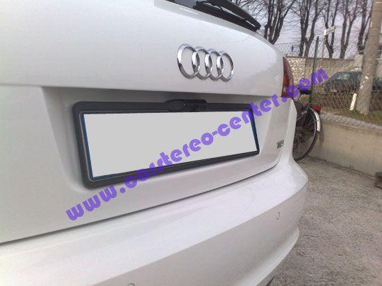 Audi A3 con telecamera a targa