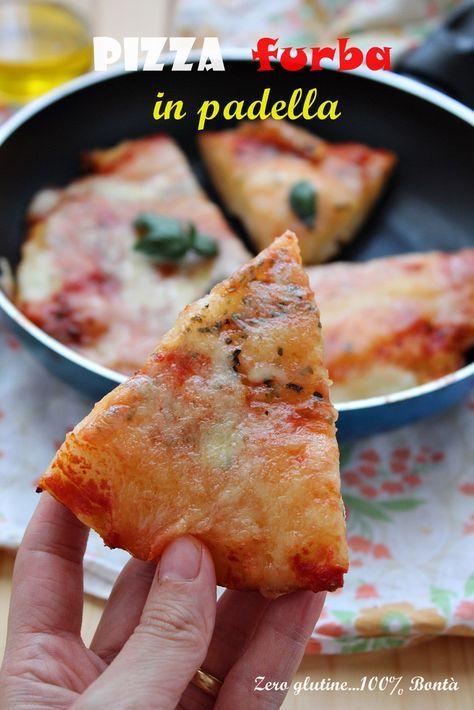 Pizza furba in padella ricetta senza glutine e senza lievitazione. Gustosa e velocissima da preparare , questa pizza furba si prepara in 15 minuti.
