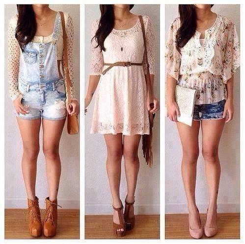 diferentes tipos de ropa