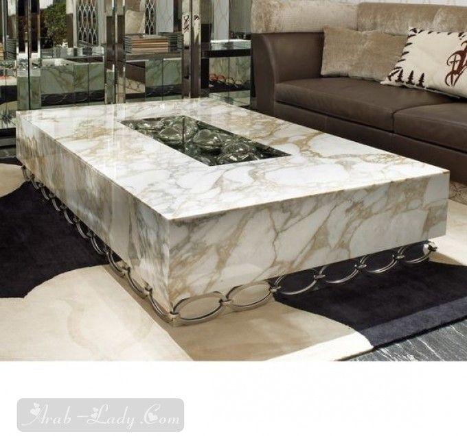 بالصور أجمل الطاولات للمجالس مجلة المرأة العربية Luxury Coffee Table Luxury Interior Design Centre Table Design