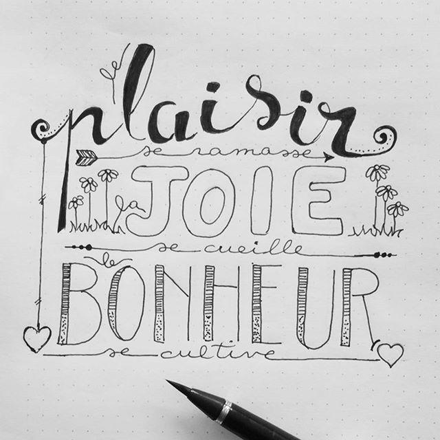 #letteritfrench semaine 2 #lettrage #lettering