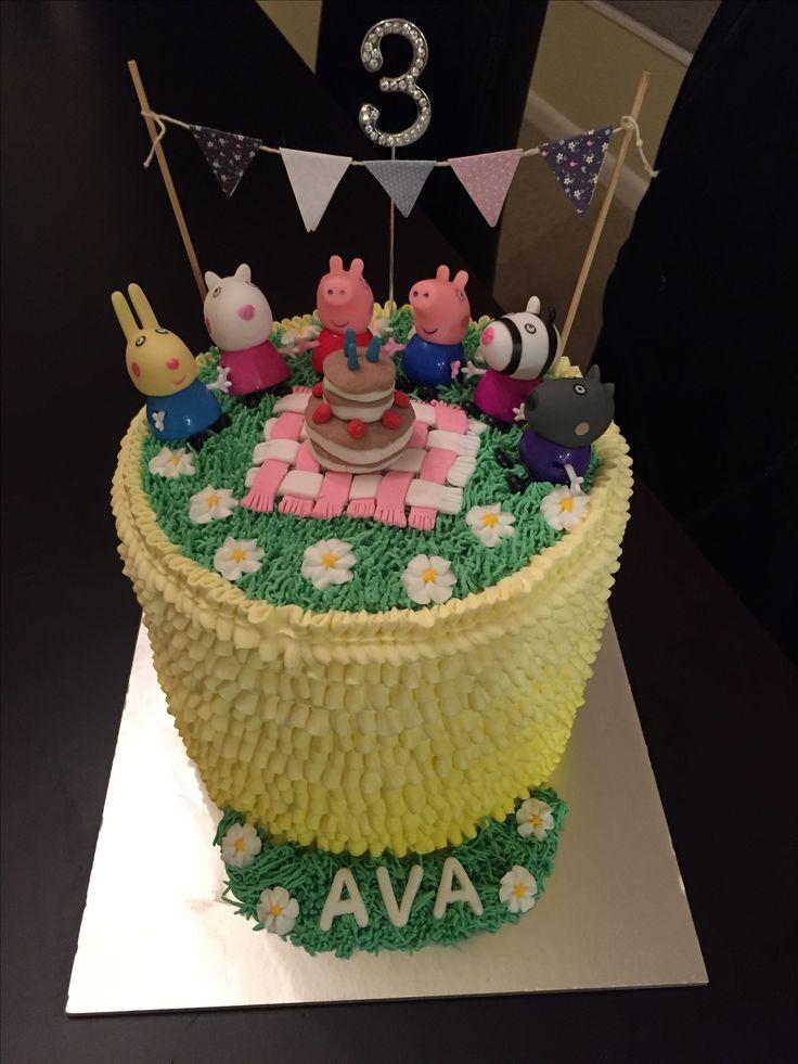 Peppa Pig Picnic Birthday Cake