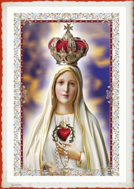 Los Cinco Minutos De Maria 13 De Mayo Em 2020 Virgem Maria