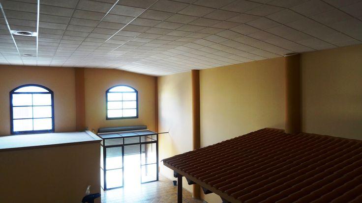 """Trabajos realizados en el polígono industrial """"La Morera"""" Utrera (Sevilla),  para la ubicación de un mesón. #Techosregistrables #Pladur #Decoración en Poliuretano + info: http://www.gusolin.es/"""