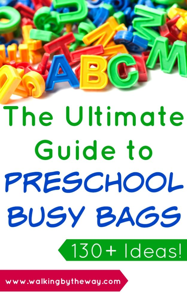 The Ultimate Guide to Preschool & Toddler Busy Bag Activities from Walking by the Way