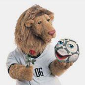 Alemania 2006: Goleo VI y Pille (Un león y una pelota parlante)