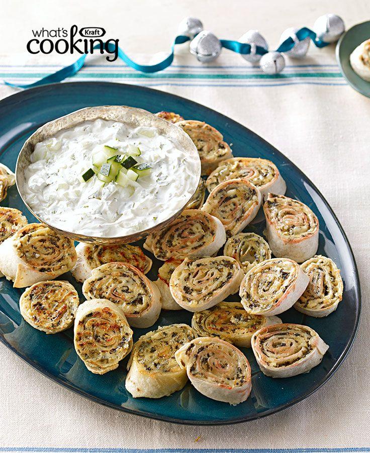 Cheesy Greek Pinwheel Appetizers #recipe