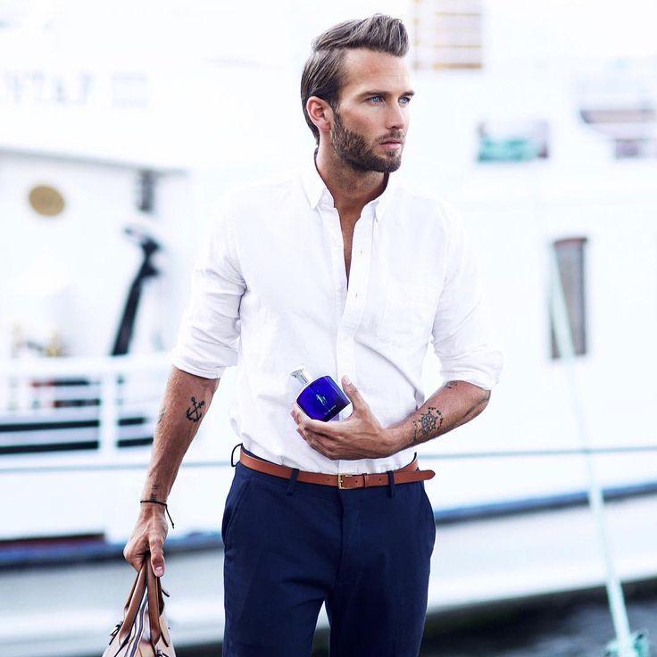Men White Shirt Style Custom Shirt