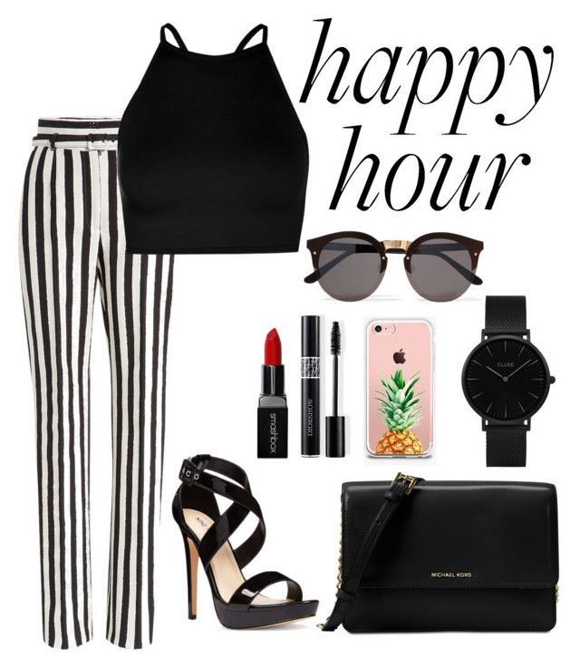 """""""happy"""" by roselie1405x on Polyvore featuring Dolce&Gabbana, Michael Kors, Boohoo, Nine West, Smashbox, Christian Dior, CLUSE, Illesteva and The Casery"""