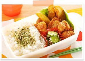お弁当 レシピ|鶏のから揚げ弁当|かんたん弁当|レシピ大百科【AJINOMOTO PARK】