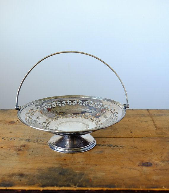 Vintage silver plated fruit or candy stand