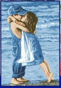 TL001 Набор для рисования камнями Дети на пляже