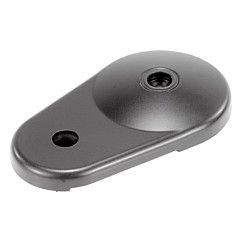 Embase pour pied articulé avec bride de fixation en zinc injecté haute pression // Swivel feet plates extended die-cast zinc // REF 27802