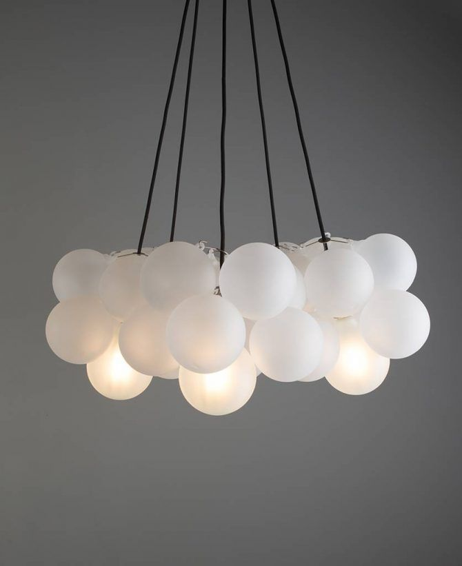 10 Light Cable Chandelier in white | Hanging ceiling lights