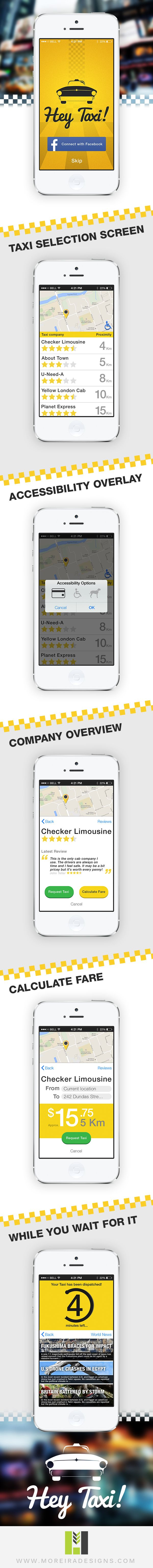 Hey Taxi - Application Concept by Lucas Moreira, via Behance