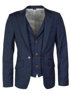 Vivienne Westwood Blue Stitched Waistcoat Suit Jacket