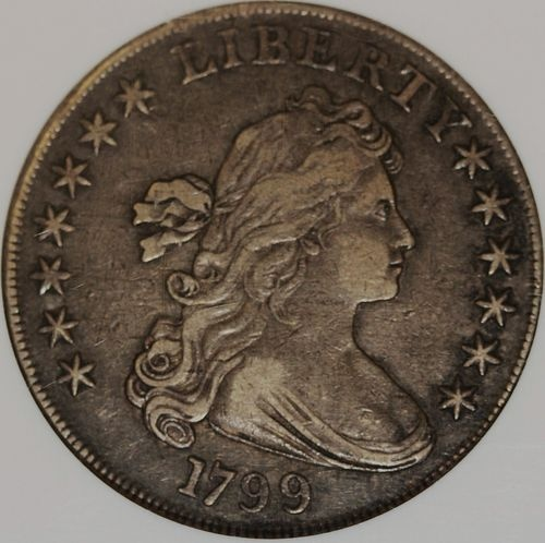 1799 Draped Bust Silver Dollar NGC XF40. Attractive original surfaces.      WE BUY COINS! FORWARD YOUR LIST OR IMAGE FOR OUR OFFER  $5950