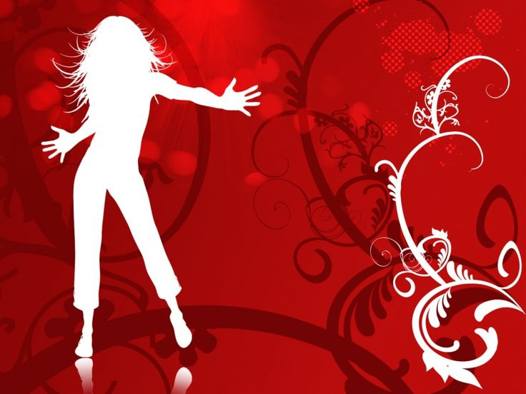 Dancing girl vector backgrounds