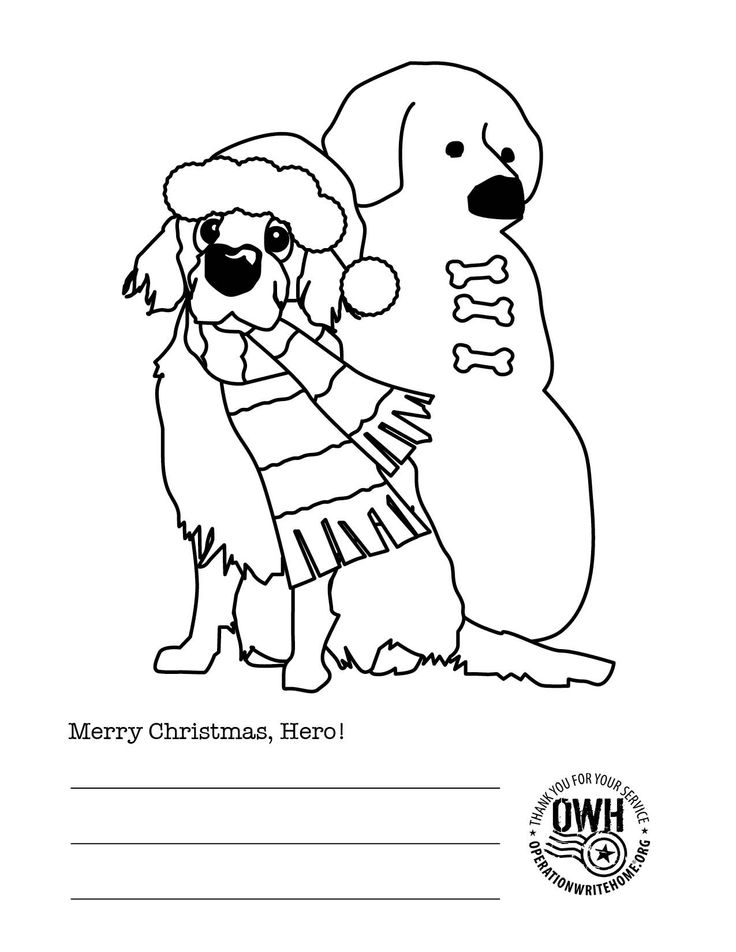 christmas military coloring pages - photo#3