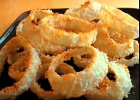 Weight Watchers Oven Baked Onion Rings (6 Points+) #WeightWatchers #HealthyRecipes #OnionRings