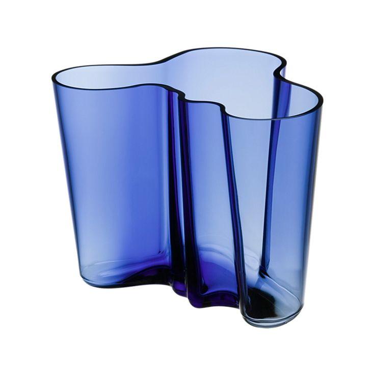 Aalto vase 160mm Ultramarine - Vaso Aalto 160mm blu oltremare