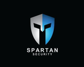 Spartan Security Logo design - Shield and spartan helmet! Strong. Powerful. Modern. <br />*Free Customization! Adjust logo to your needs without extra cost. Price $400.00