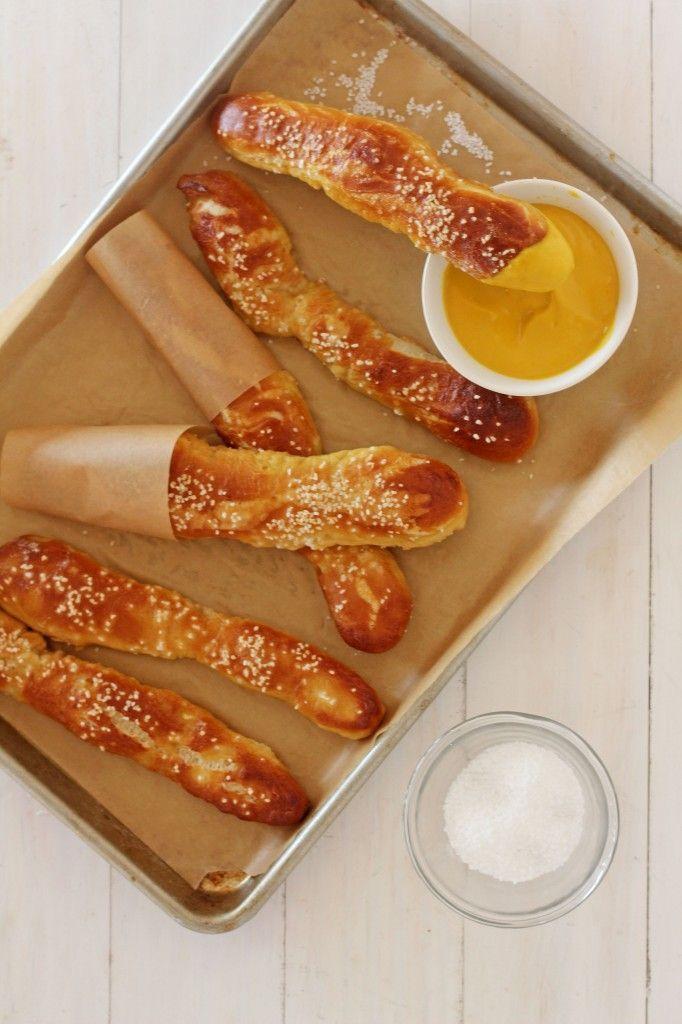 Soft Pretzel Sticks | Serving size: 1 Pretzel; Cal: 151, Fat: 2.81g, Carb: 27.2g, Fiber: 1g, Protein: 3.8g.
