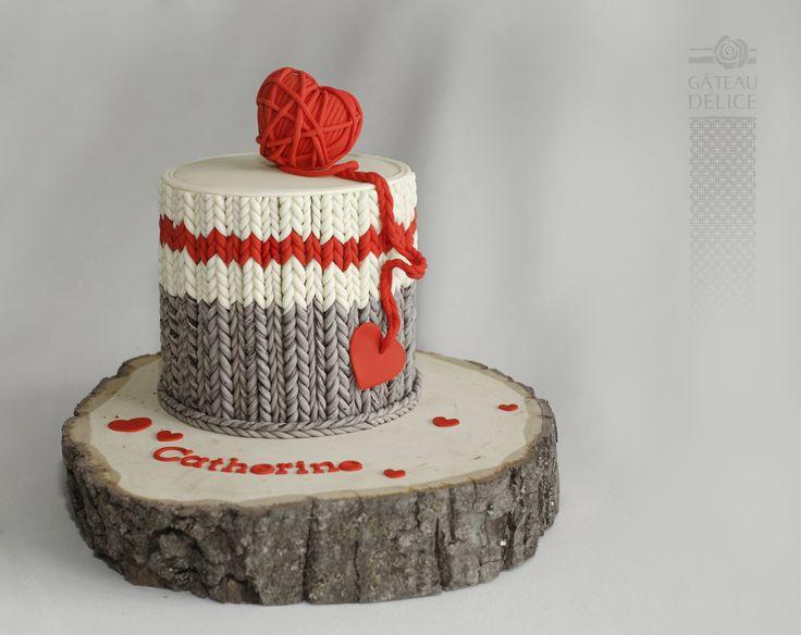 Gâteau bas de laine. knitting sock cake.