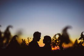 Image result for wedding sunset silhouette