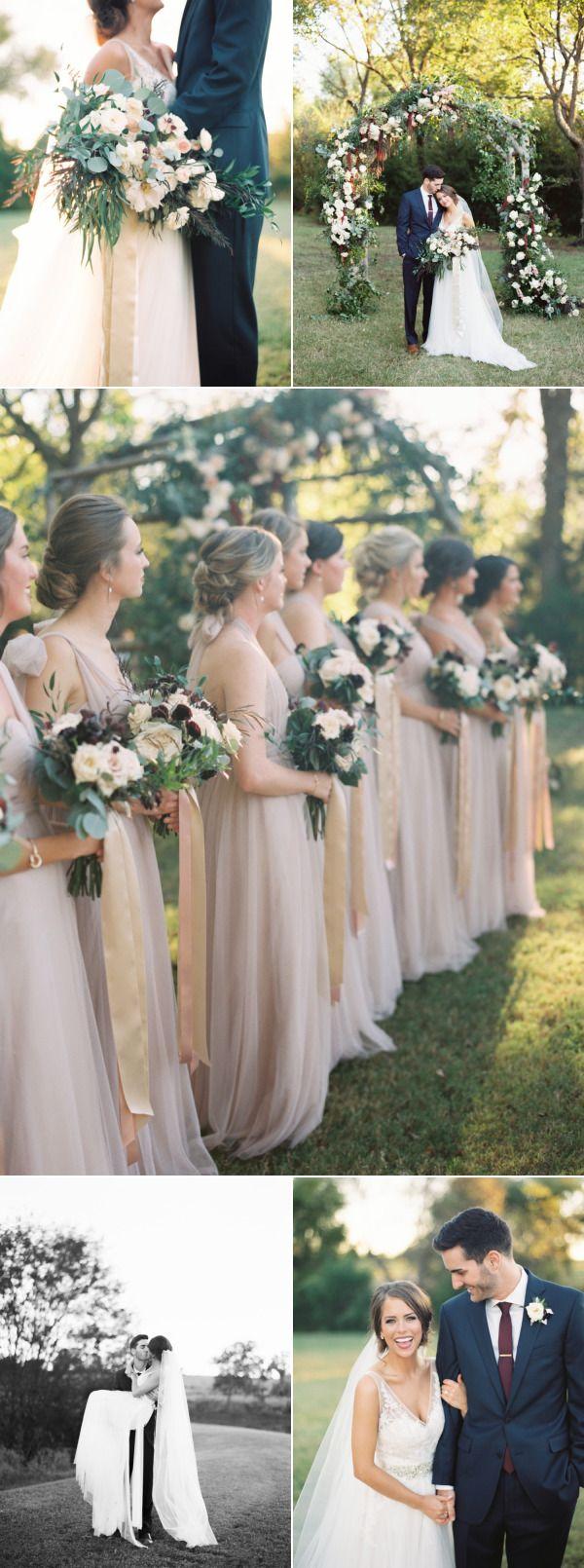 Classic Burgundy + Navy Fall Wedding – Style Me Pretty