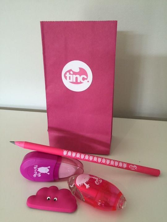 Kid's stationery party bag. Make party life easier with quality stationery products in your next kids party bag. Lots of colours to choose from. www.tinc.net.au