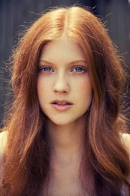 Pretty Girls With Natural Red Hair And Blue Eyes Natural Light Red Hair...
