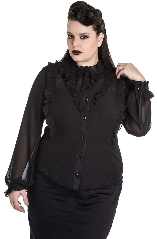 Blusa Demetria de Spin Doctor en Talla Grande  #moda #goth #alternativo #plussize #ropa
