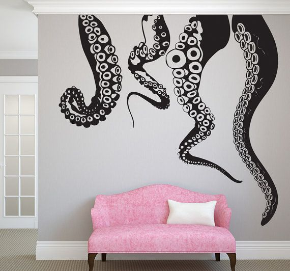Jumbo Tentacles Vinyl Wall DecalChoose Any Color by Pillboxdesigns, $119.00