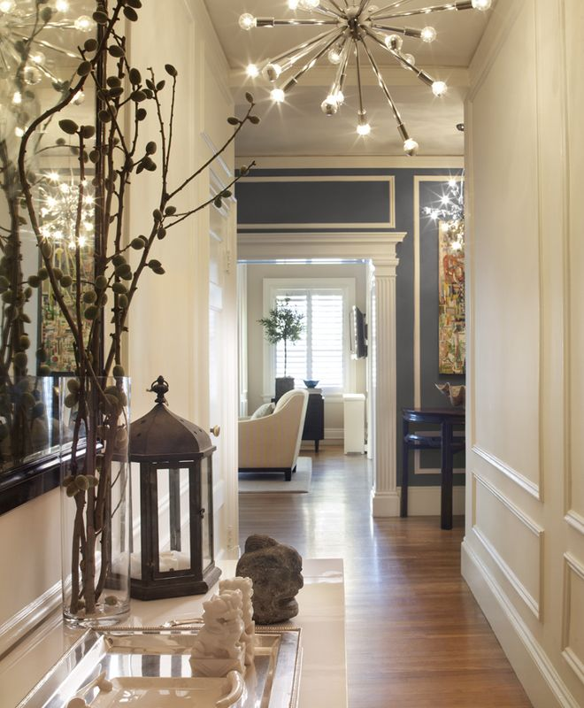 Lovely Contemporary Victorian Hallway: Transitional Foyer, Hallway