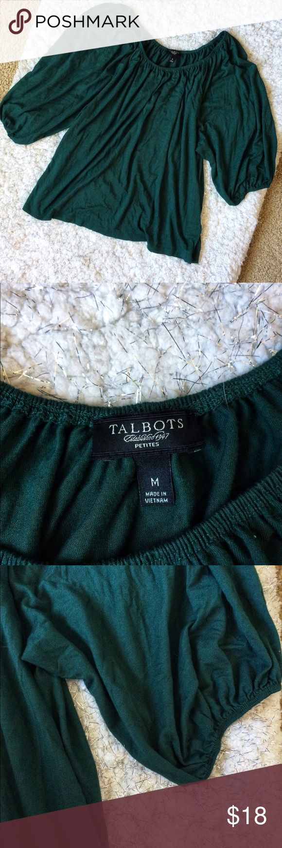 Talbots Petite Medium Green Slouchy Top Super soft comfy material - Preloved - Size medium - Talbots Tops Blouses