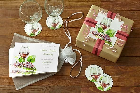 Use your party invitation to create fun coasters or a beautifully-wrapped gift.