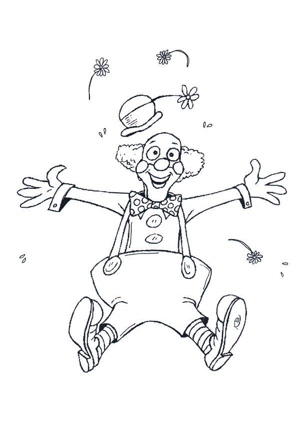 * Leuke vbs oefening! Druk de clown af op A3. of plak hem op een groot verf-vel. Uit de hand van de clown komt serpentine! De kinderen hebben in beide handen een gekleurd potlood en tekenen de serpentine!