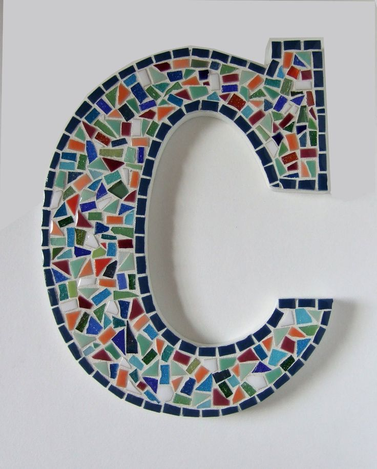 Letters by Request Style Confetti 9 Mosaic Wall by MollycatMosaics