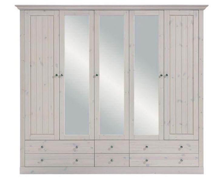 Unique Details zu STEENS Massivholz Kleiderschrank trg MONACO Landhausstil White Wash