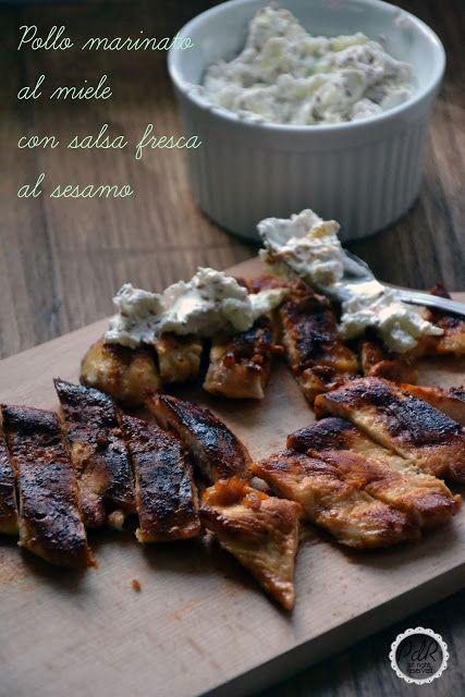 Pan di Ramerino: Pollo marinato al miele con salsa fresca al sesamo
