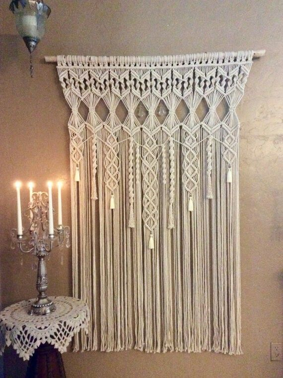 Extra Large Macrame Wall Hanging Tapestry by MacrameElegance | Shabby Chic | Pinterest | Bohemian decor, Wedding and Entrance
