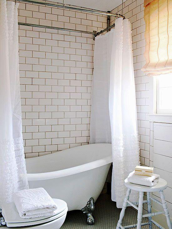 Small Bathroom Ideas With Clawfoot Bathtub: 25+ Best Ideas About Clawfoot Tub Shower On Pinterest