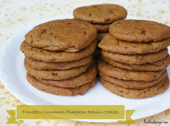 Recipe: Flourless Cinnamon Pumpkin Raisin Cookies…