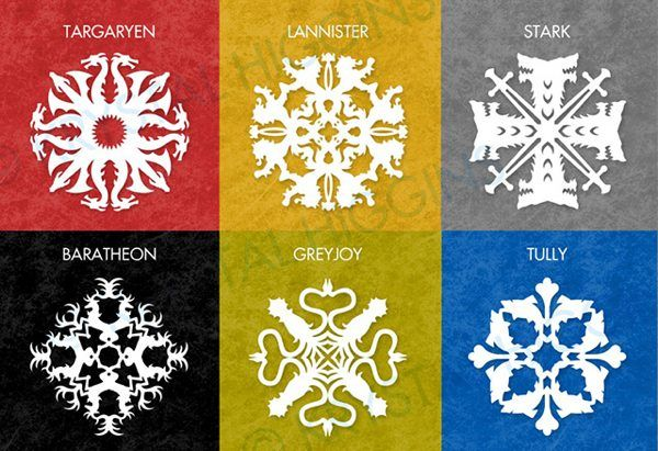 Download Free Patterns To Make Amazing Game Of Thrones House Sigil Snowflakes